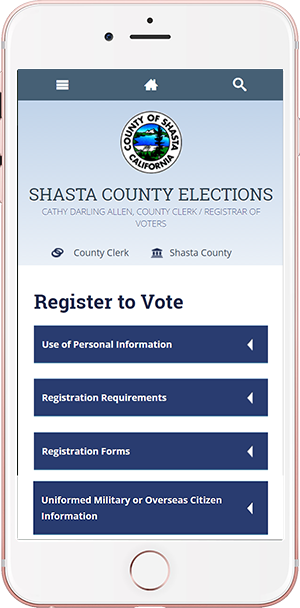 online voter information tools for Shasta County elections vote locations