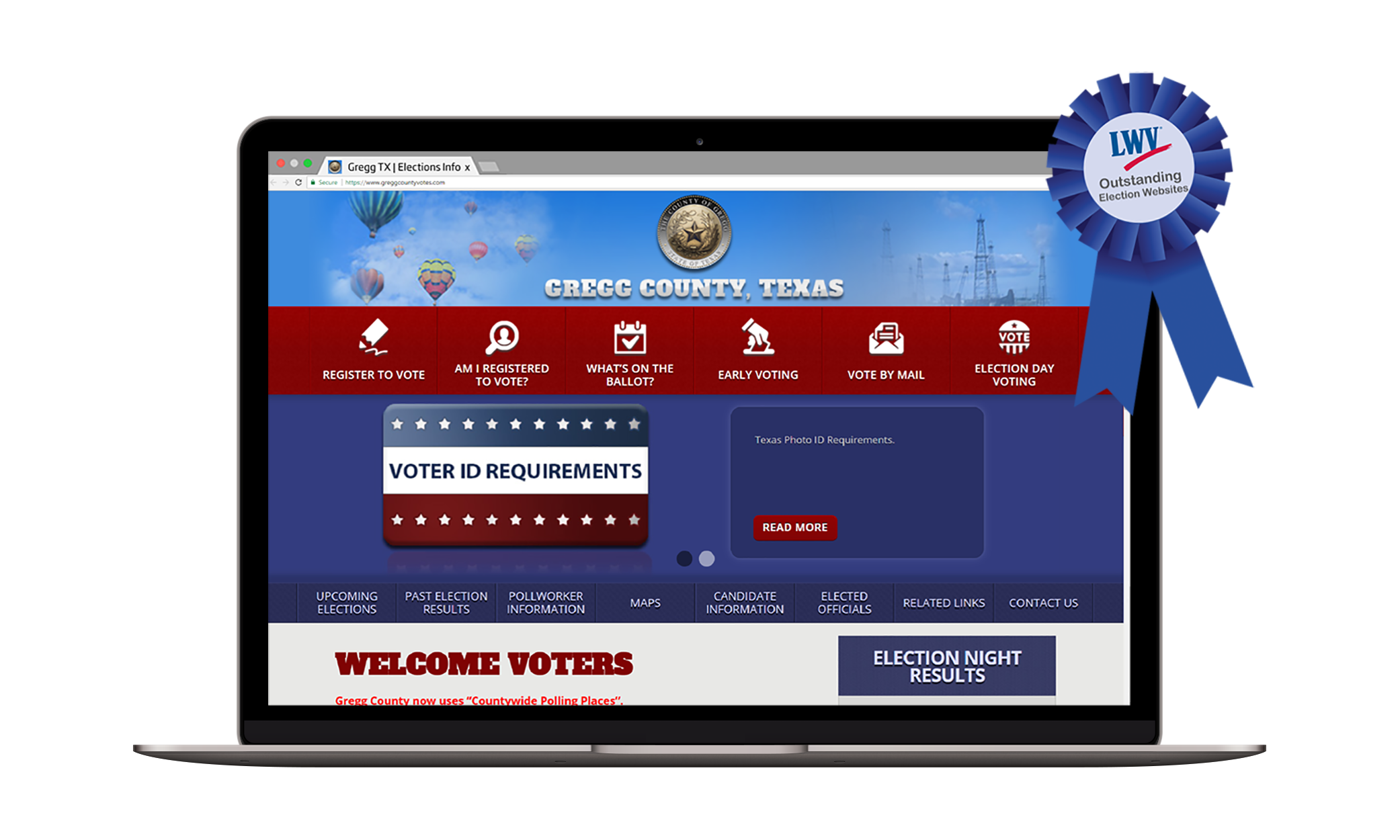 award-winning online voter information tools screenshot
